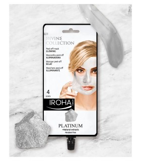 Mascarilla Peel-Off Platino Iroha Nature.