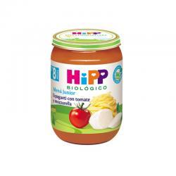 Potito espaguetti con tomate y mozarella Bio +8M 190g Hipp - Imagen 1