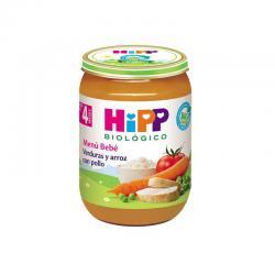 Potito de verduras y arroz con pollo Bio +4M 190g Hipp - Imagen 1