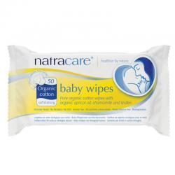 Toallitas para bebe 100% algodón 50 unidades Natracare - Imagen 1