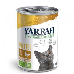 Pate para gatos de pollo y algas  bio lata 400g Yarrah - Imagen 1