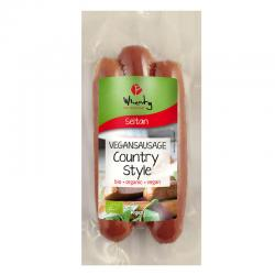 Salchichas de seitan ahumadas bio 150 g Wheaty - Imagen 1