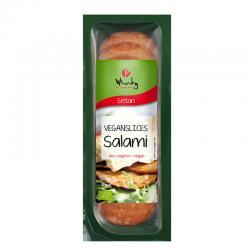 Lonchas de salami bio 100 g Wheaty - Imagen 1