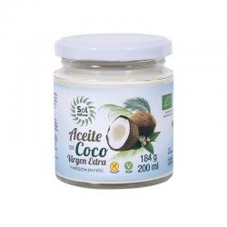 Aceite de coco virgen extra bio 200 ml Sol Natural - Imagen 1
