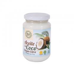 Aceite de coco virgen extra bio 370 ml Sol Natural - Imagen 1