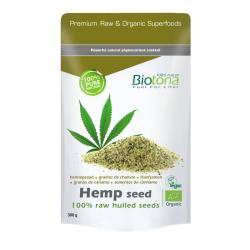 Hemp seed (semilla de cáñamo en grano) superfood bio 300g Biotona - Imagen 1