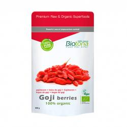Goji berries (bayas de goji) superfoods bio 250g Biotona - Imagen 1