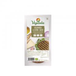 Vegeburguer de seitán y queso bio 160 g Vegetalia - Imagen 1