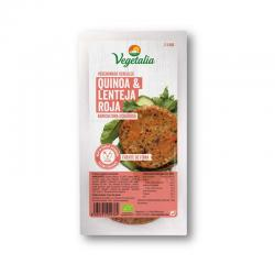 Vegeburguer de quinoa y lenteja roja bio 160g Vegetalia - Imagen 1