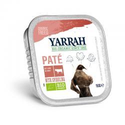 Pate para perros con ternera tarrina bio 150g Yarrah - Imagen 1