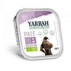 Pate para perros con pollo y pavo tarrina bio 150g Yarrah - Imagen 1