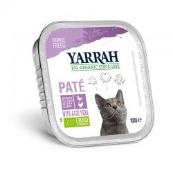 Pate para gatos con pollo y pavo tarrina bio 100g Yarrah - Imagen 1