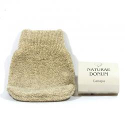 Esponja guante cañamo Naturae Donum - Imagen 1