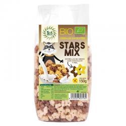 Cereales Estrellitas Choco-Miel Sin gluten Bio 150g Sol Natural - Imagen 1