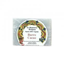 Jabon de manteca de cacao 100g La saponeria artigiana - Imagen 1