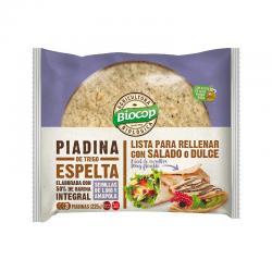 Piadina de trigo espelta con semillas de lino y amapola Bio (3x75) 225g Biocop - Imagen 1