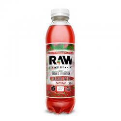 Bebida isotonica Fresa y menta bio 500ml Raw Organic - Imagen 1