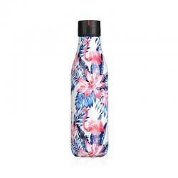 Botella Termo Inox Leaf Flamingos 500ml Les Artistes Paris - Imagen 1