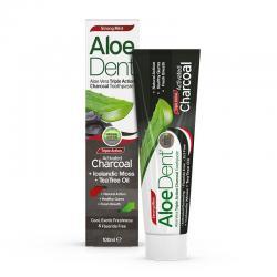 Dentifrico Aloe, Carbon activo, Arbol del te y menta 100ml Aloe Dent - Imagen 1
