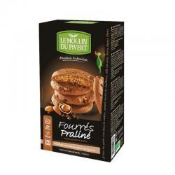 Cookies rellenas praliné bio 175 g Le Moulin Du Pivert - Imagen 1