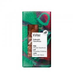 Chocolate con leche y avellanas enteras bio 100g Vivani - Imagen 1