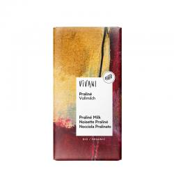Chocolate con Praline (almendra garrapiñada) bio 100g Vivani - Imagen 1