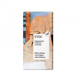 Chocolate con cafe cappuccino bio 100g Vivani - Imagen 1