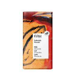 Chocolate con leche y almendras enteras bio 100g Vivani - Imagen 1