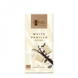 Chocolate blanco vegano con vainilla bio 80g Ichoc - Imagen 1