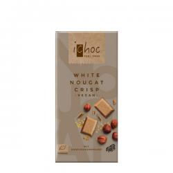 Chocolate vegano turrón blanco crujiente Bio 80g Ichoc - Imagen 1