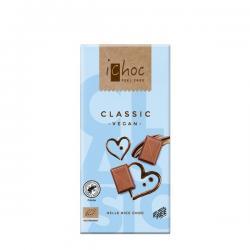 Chocolate vegano classic bio 80g Ichoc - Imagen 1