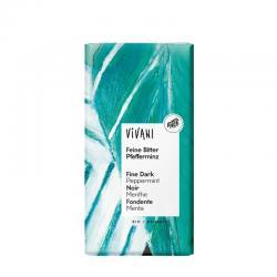 Chocolate negro 68% con menta bio 100g Vivani - Imagen 1