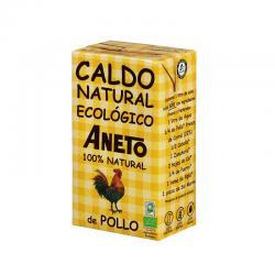 Caldo natural de Pollo Bio 1L Aneto - Imagen 1
