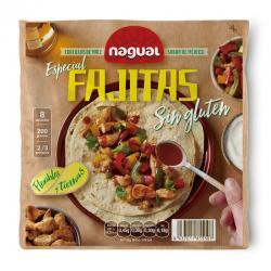 Tortilla de maiz especial Fajita sin gluten 200g Nagual - Imagen 1