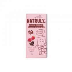 Tableta de Chocolate con frambuesa y nibs de cacao 72% 85g Natruly - Imagen 1