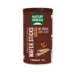Barquillos stick rellenos de chocolate Bio 140g NaturGreen - Imagen 1