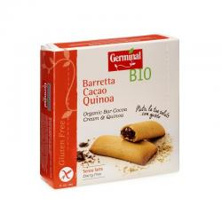 Barrita quinoa rellena de crema de cacao bio sin gluten 180g Germinal - Imagen 1