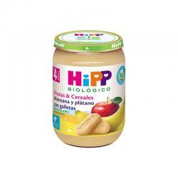 Potito de Manzana y Platano con galletas +4M Bio 190g Hipp - Imagen 1