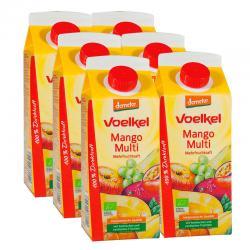 Zumo de Mango con multifrutas Bio 6x750ml Voelkel - Imagen 1