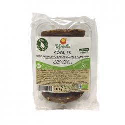 Cookies sarraceno, algarroba, almendra, agave Bio 140g Vegetalia - Imagen 1
