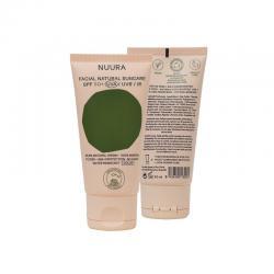 Crema solar facial COLOR SPF+50 Bio 50ml Nuura - Imagen 1