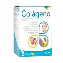 Colageno, A.Hialuronico y Vitamina C sabor limon 30sobres Eladiet - Imagen 1