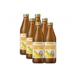 Kombucha maracuya y limon bio 6x330ml Voelkel - Imagen 1