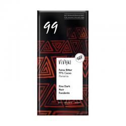 Chocolate negro 99% bio 80g Vivani - Imagen 1