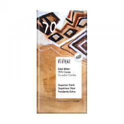 Chocolate negro 70% bio 100g Vivani - Imagen 1