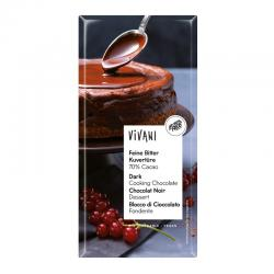 Chocolate negro de cobertura 70% bio 200g Vivani - Imagen 1