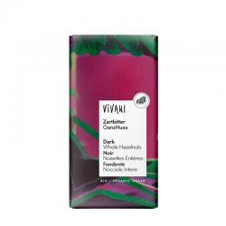 Chocolate negro 55% con avellanas enteras bio 100g Vivani - Imagen 1