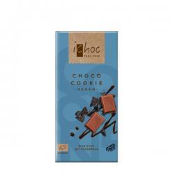 Chocolate vegano choco cookie Bio 80g Ichoc - Imagen 1