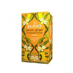 Pukka Jengibre Limon y Miel de Manuka infusion Bio 20 filtros - Imagen 1