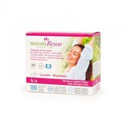 Protegeslips de tela con alas lavable Bio Masmi - Imagen 1